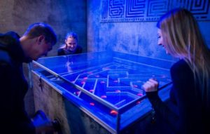 labyrinth challenge at prison island escape room Helsingborg